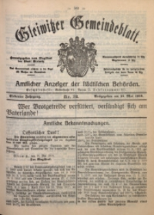 Gleiwitzer Gemeindeblatt, 1916, Jg. 7, Nr. 32