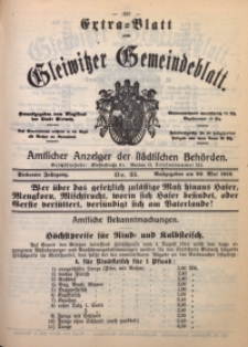 Gleiwitzer Gemeindeblatt, 1916, Jg. 7, Nr. 35