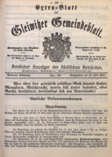 Gleiwitzer Gemeindeblatt, 1916, Jg. 7, Nr. 49