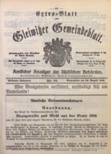 Gleiwitzer Gemeindeblatt, 1916, Jg. 7, Nr. 64