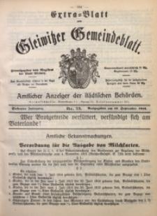 Gleiwitzer Gemeindeblatt, 1916, Jg. 7, Nr. 73