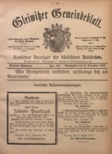 Gleiwitzer Gemeindeblatt, 1916, Jg. 7, Nr. 85