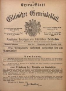 Gleiwitzer Gemeindeblatt, 1916, Jg. 7, Nr. 91