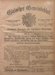 Gleiwitzer Gemeindeblatt, 1917, Jg. 8, Nr. 1