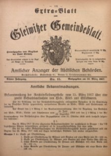 Gleiwitzer Gemeindeblatt, 1917, Jg. 8, Nr. 15