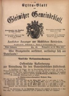 Gleiwitzer Gemeindeblatt, 1917, Jg. 8, Nr. 19