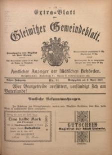 Gleiwitzer Gemeindeblatt, 1917, Jg. 8, Nr. 21