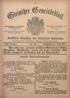 Gleiwitzer Gemeindeblatt, 1917, Jg. 8, Nr. 22