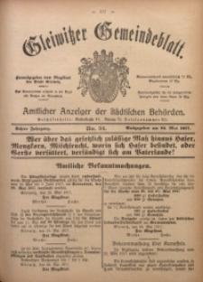 Gleiwitzer Gemeindeblatt, 1917, Jg. 8, Nr. 34