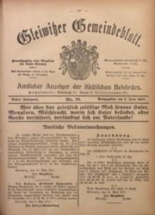 Gleiwitzer Gemeindeblatt, 1917, Jg. 8, Nr. 35