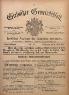 Gleiwitzer Gemeindeblatt, 1917, Jg. 8, Nr. 37