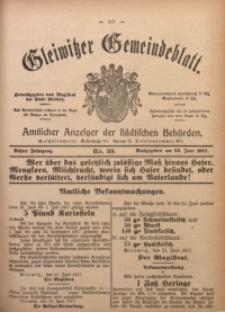 Gleiwitzer Gemeindeblatt, 1917, Jg. 8, Nr. 39