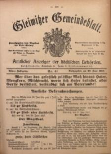 Gleiwitzer Gemeindeblatt, 1917, Jg. 8, Nr. 41