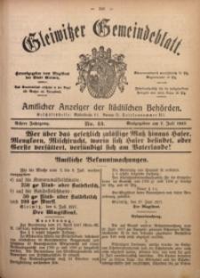 Gleiwitzer Gemeindeblatt, 1917, Jg. 8, Nr. 43
