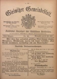 Gleiwitzer Gemeindeblatt, 1917, Jg. 8, Nr. 45