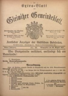 Gleiwitzer Gemeindeblatt, 1917, Jg. 8, Nr. 55