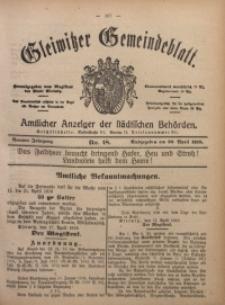 Gleiwitzer Gemeindeblatt, 1918, Jg. 9, Nr. 18