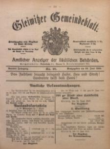Gleiwitzer Gemeindeblatt, 1918, Jg. 9, Nr. 28