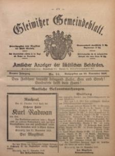 Gleiwitzer Gemeindeblatt, 1918, Jg. 9, Nr. 54