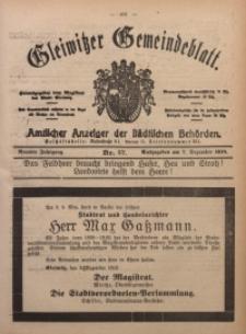 Gleiwitzer Gemeindeblatt, 1918, Jg. 9, Nr. 57