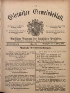 Gleiwitzer Gemeindeblatt, 1919, Jg. 10, Nr. 18