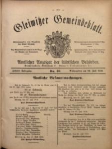 Gleiwitzer Gemeindeblatt, 1919, Jg. 10, Nr. 40