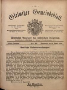 Gleiwitzer Gemeindeblatt, 1919, Jg. 10, Nr. 43