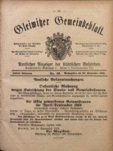 Gleiwitzer Gemeindeblatt, 1919, Jg. 10, Nr. 49