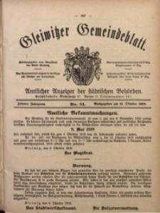 Gleiwitzer Gemeindeblatt, 1919, Jg. 10, Nr. 54