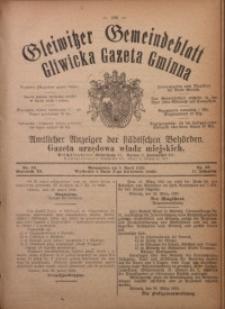 Gleiwitzer Gemeindeblatt. Gliwicka Gazeta Gminna, 1920, Jg. 11, Nr. 18