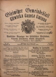 Gleiwitzer Gemeindeblatt. Gliwicka Gazeta Gminna, 1920, Jg. 11, Nr. 20