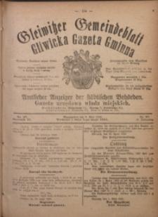 Gleiwitzer Gemeindeblatt. Gliwicka Gazeta Gminna, 1920, Jg. 11, Nr. 27