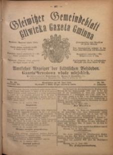 Gleiwitzer Gemeindeblatt. Gliwicka Gazeta Gminna, 1920, Jg. 11, Nr. 39