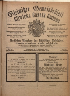 Gleiwitzer Gemeindeblatt. Gliwicka Gazeta Gminna, 1920, Jg. 11, Nr. 64