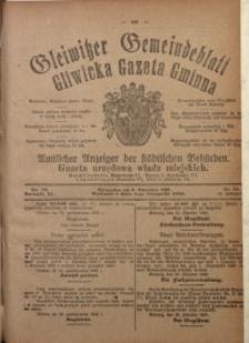 Gleiwitzer Gemeindeblatt = Gliwicka Gazeta Gminna, 1920, Jg. 11, Nr. 79