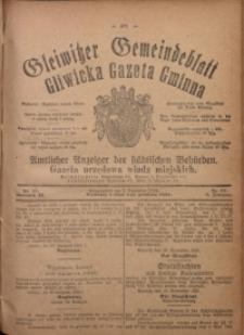 Gleiwitzer Gemeindeblatt = Gliwicka Gazeta Gminna, 1920, Jg. 11, Nr. 87