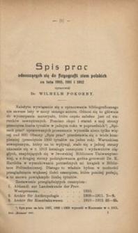 Spis prac odnoszących się do fizyografii ziem polskich za lata 1910, 1911 i 1912
