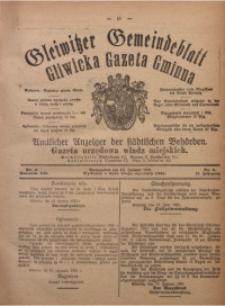 Gleiwitzer Gemeindeblatt. Gliwicka Gazeta Gminna, 1921, Jg. 12, Nr. 4