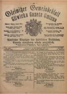 Gleiwitzer Gemeindeblatt. Gliwicka Gazeta Gminna, 1921, Jg. 12, Nr. 100