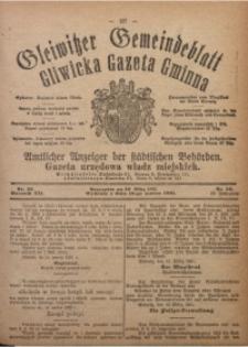 Gleiwitzer Gemeindeblatt. Gliwicka Gazeta Gminna, 1921, Jg. 12, Nr. 23