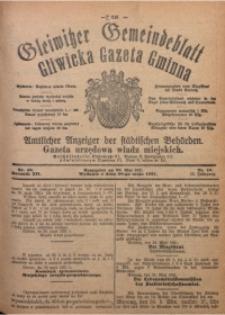 Gleiwitzer Gemeindeblatt. Gliwicka Gazeta Gminna, 1921, Jg. 12, Nr. 40