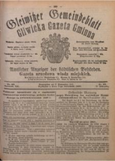 Gleiwitzer Gemeindeblatt. Gliwicka Gazeta Gminna, 1921, Jg. 12, Nr. 68