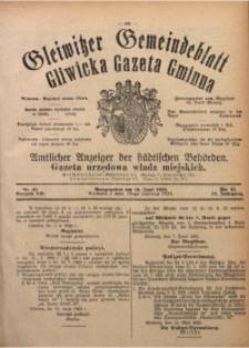 Gleiwitzer Gemeindeblatt. Gliwicka Gazeta Gminna, 1922, Jg. 13, Nr. 37
