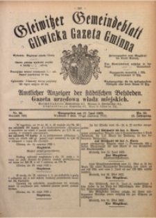 Gleiwitzer Gemeindeblatt. Gliwicka Gazeta Gminna, 1922, Jg. 13, Nr. 38
