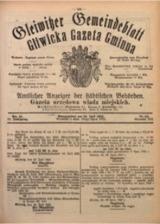 Gleiwitzer Gemeindeblatt. Gliwicka Gazeta Gminna, 1922, Jg. 13, Nr. 45