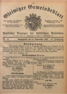 Gleiwitzer Gemeindeblatt, 1922, Jg. 13, Nr. 55