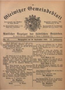 Gleiwitzer Gemeindeblatt, 1922, Jg. 13, Nr. 57