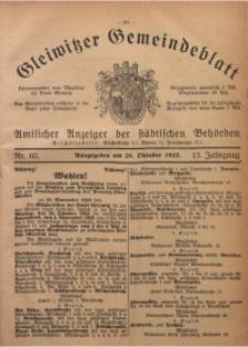 Gleiwitzer Gemeindeblatt, 1922, Jg. 13, Nr. 65