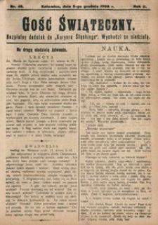 Gość Świąteczny, 1908, R. 4, nr 49