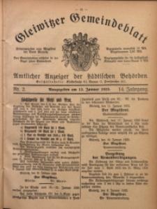 Gleiwitzer Gemeindeblatt, 1923, Jg. 14, Nr. 2